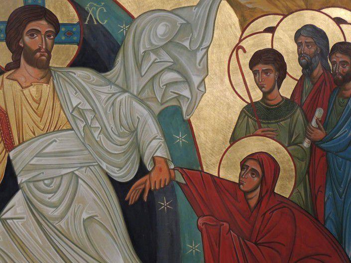Détail icone de la résurrection église de Villars.