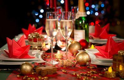 Bon appétit - Table - Champagne - Fêtes - Décorations - Noël - Nouvel-An - Wallpaper - Free
