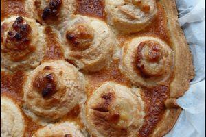 Gâteau tarte aux pommes rôties & à la pâte d'amande