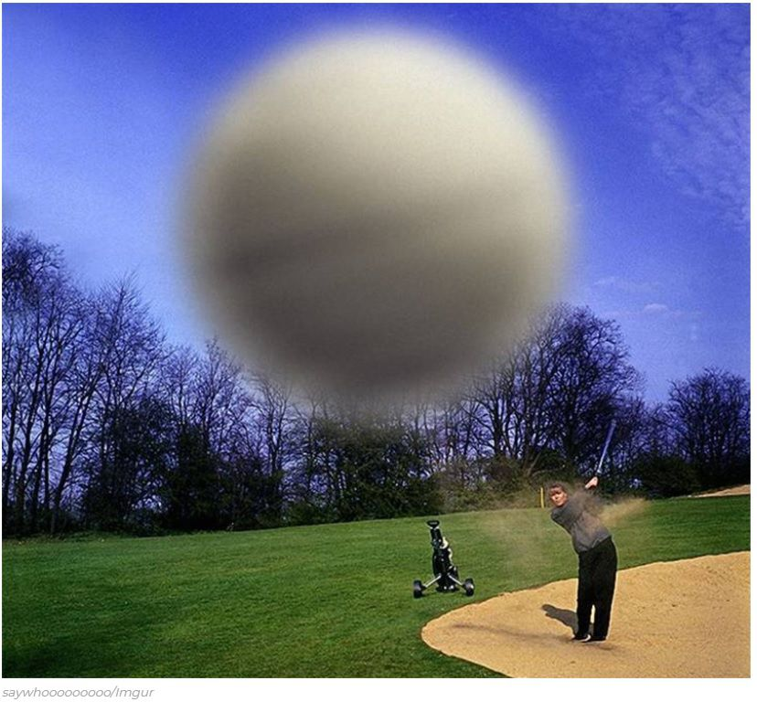 Extraordinaire photo de golf