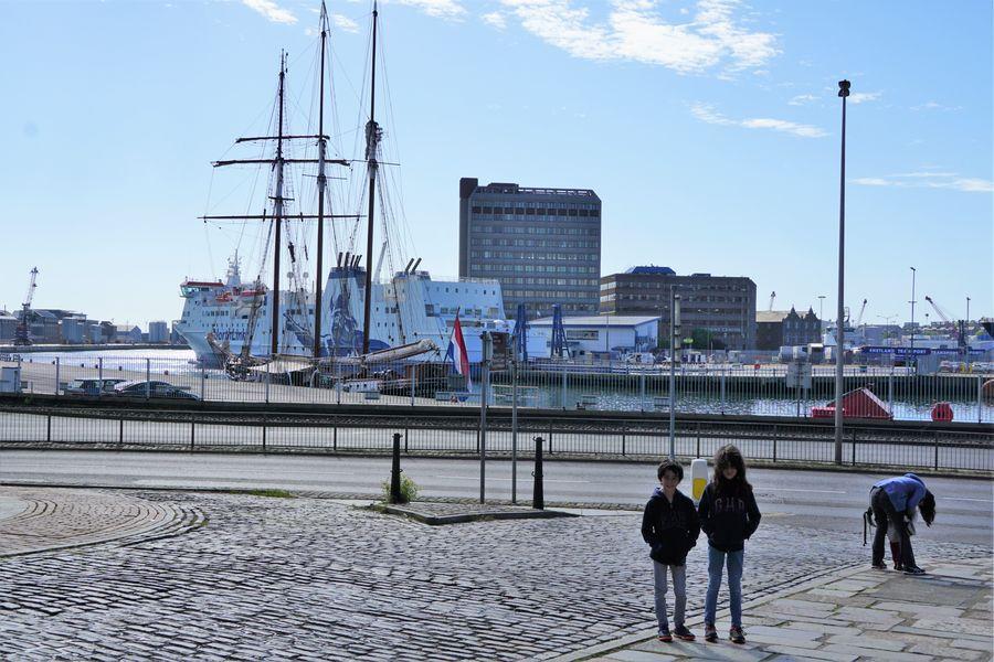 Le port d'Aberdeen, et notre ferry