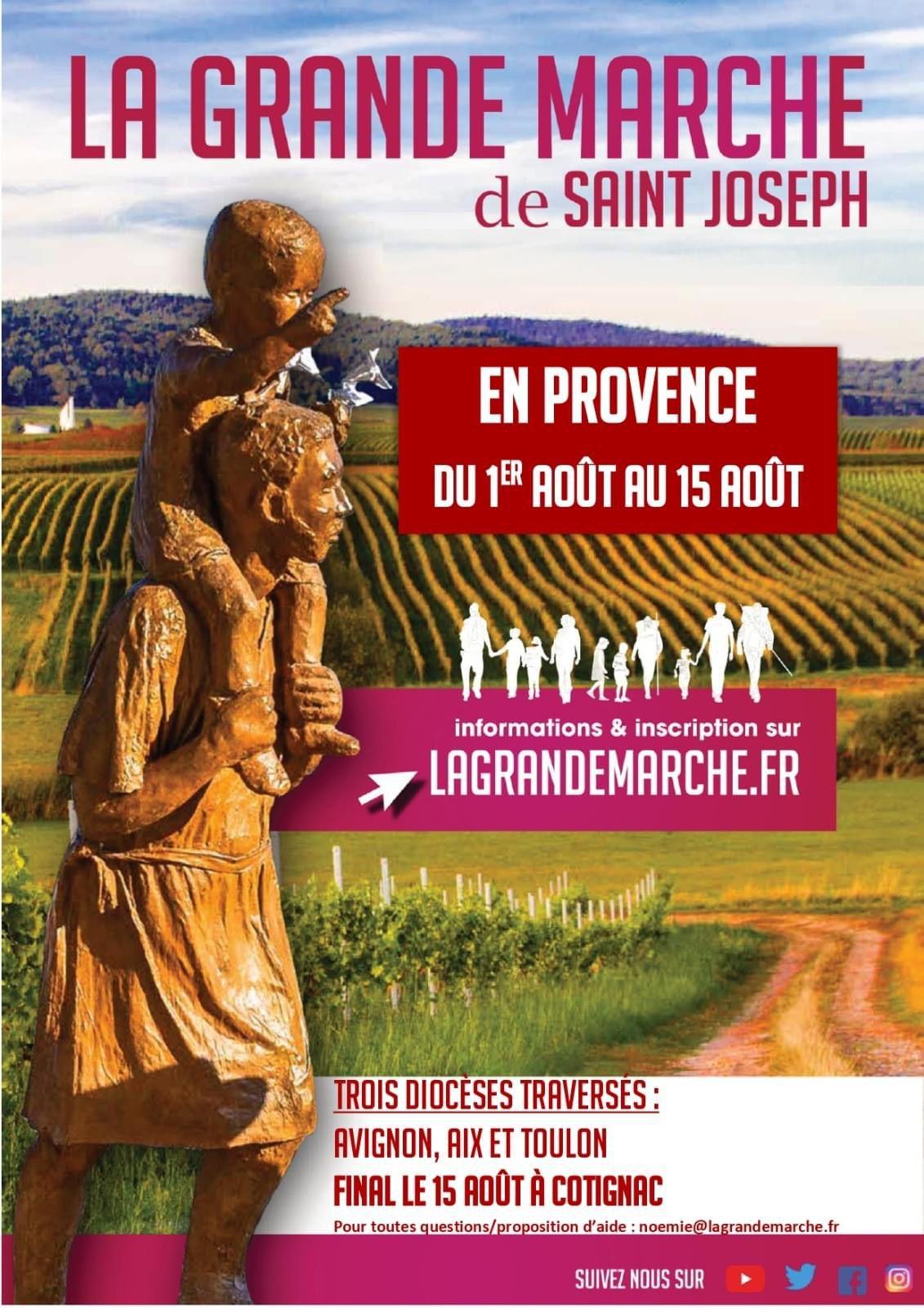 LA GRANDE MARCHE DE SAINT JOSEPH ARRIVE EN PROVENCE !