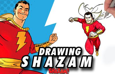 SHAZAM ! Speed Drawing ✏️ Comic Book Style ✏️ ⚡️