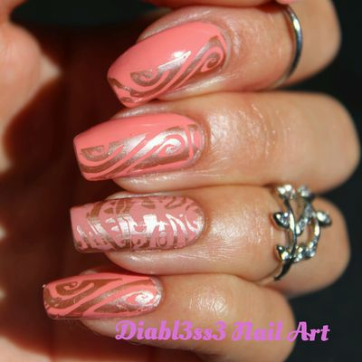 Stamping master corail et or rose