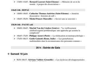 Symposium - 20 ans de neuropsychologie à l'université de Savoie - 17-18 juin 2011