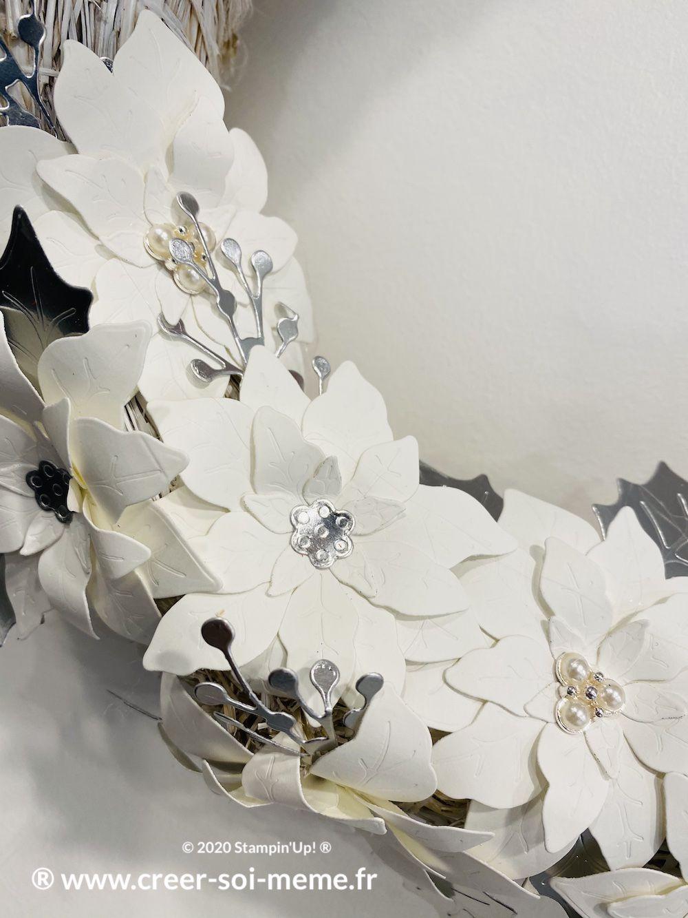 flocons de perles stampin up trio de perles loisirs créatifs décoration de noel pont audemer rouen saint etienne du rouvray colmar strasbourg lille