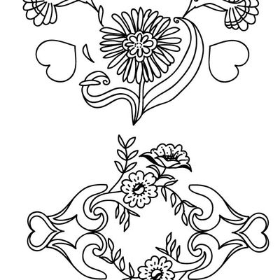 2 motifs embroidery.