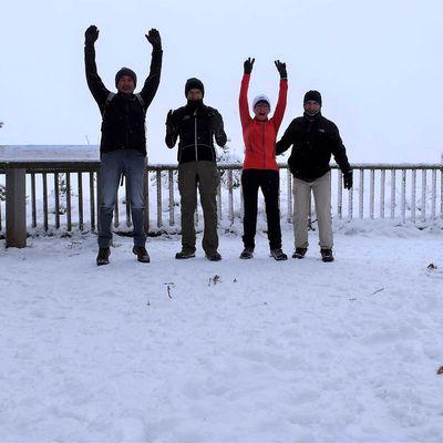 Balade dans la neige à Paugnat