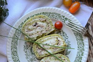 Roulé courgette thon fromage frais