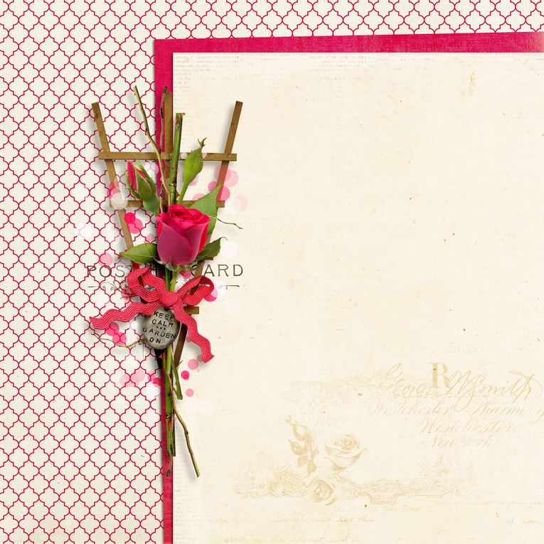 Jardin des roses (Papiers empilés) - Garden of roses  (Stacked Papers)