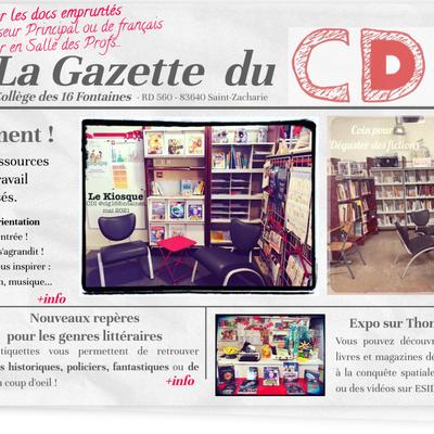 Un nouveau format pour la Gazette du CDI avec Genially