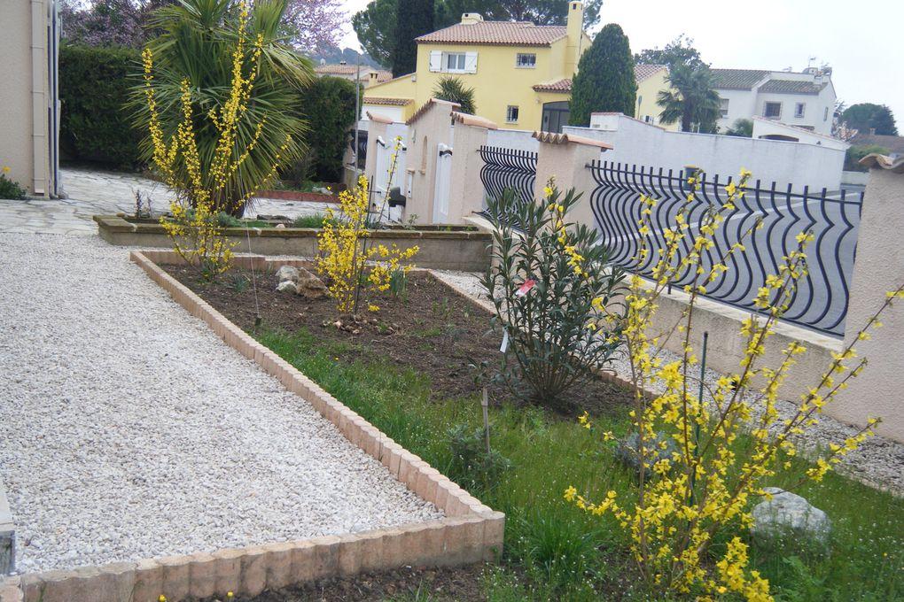 Evolution, au fil des saisons, de mon jardin, dans le sud de la France...