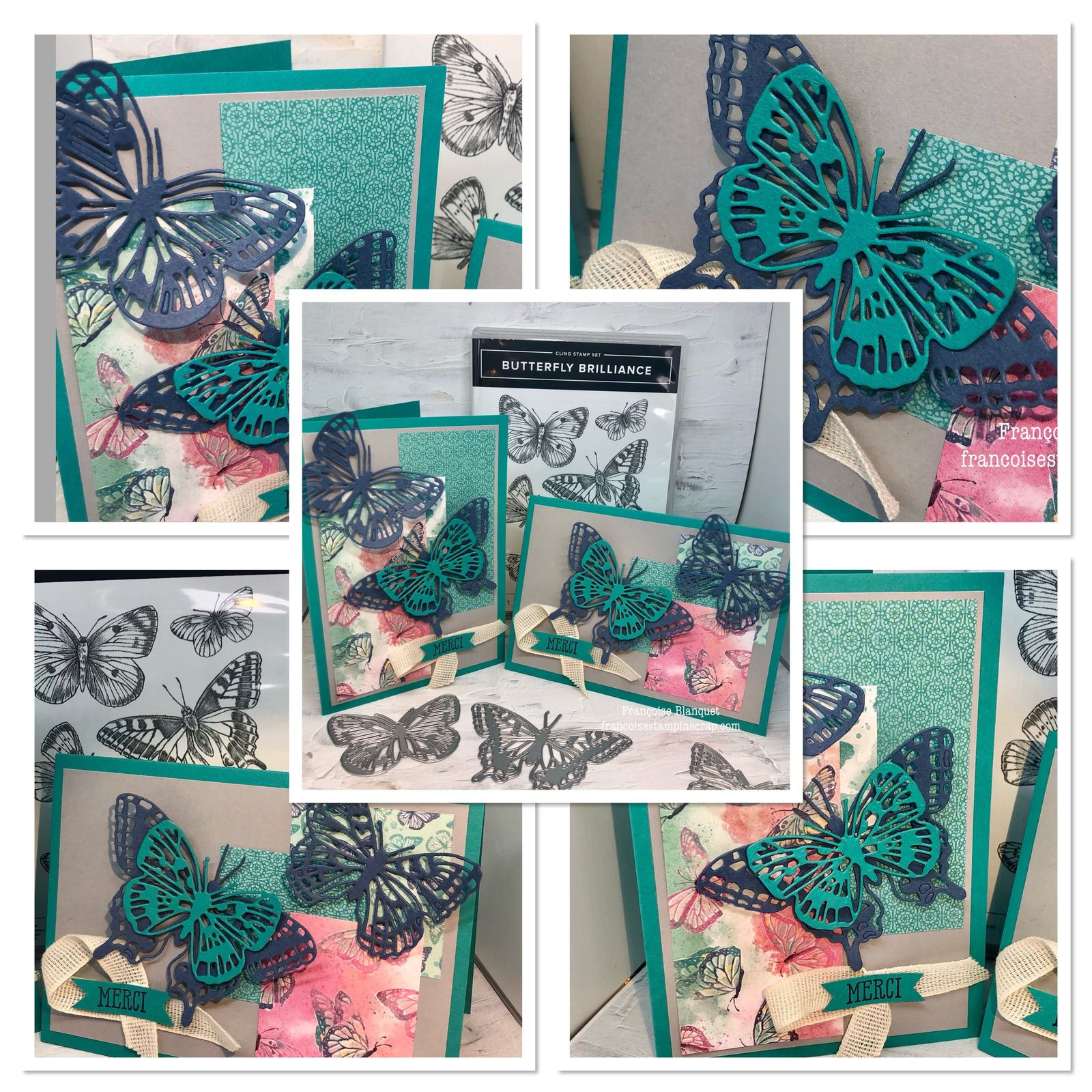 Bouquet de papillons pour dire Merci   / Butterfly brilliance Stampin'Up!
