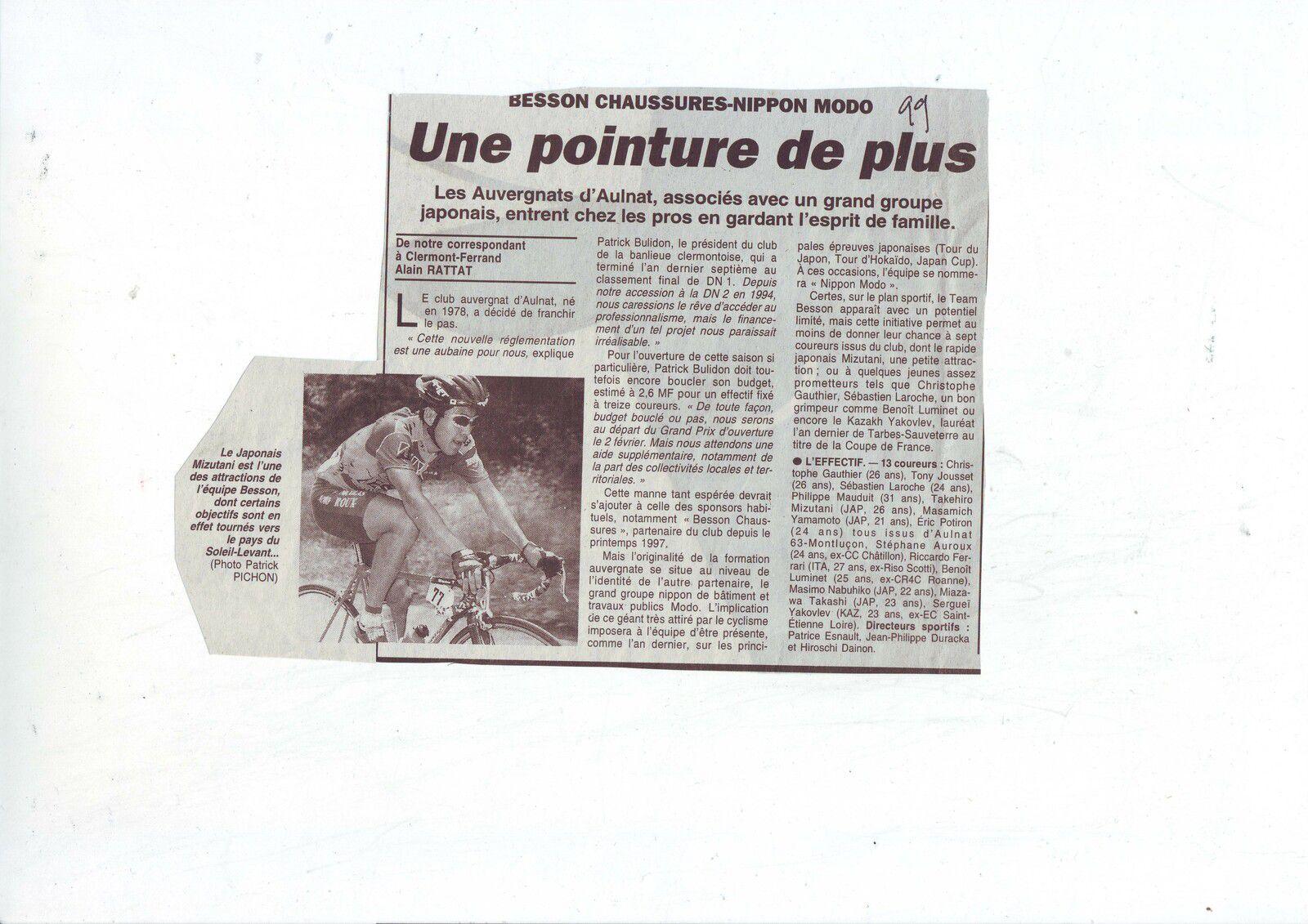 07/04/1999 : 1er succès chez les pros pour Besson Chaussures