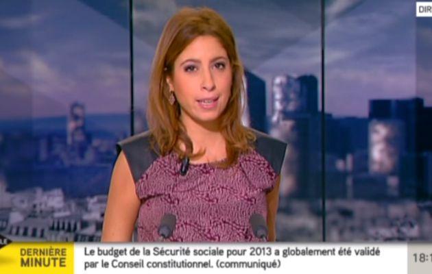 2012 12 13 - LEA SALAME - I>TELE - L'EDITION DU SOIR @18H00