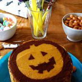 Une envie de gâteau d'anni-ween : génoise chocolat et ganache au potimarron