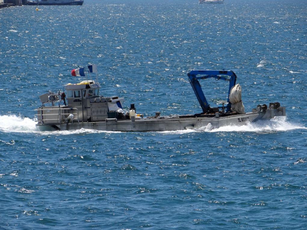 MSE 3, navire pour travaux portuaire arrivant à Toulon le 01 juin 2018