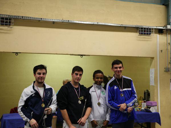 Doublé de Louis au championnat de ligue M20 Hommes les 5 et 6 novembre à Bobigny