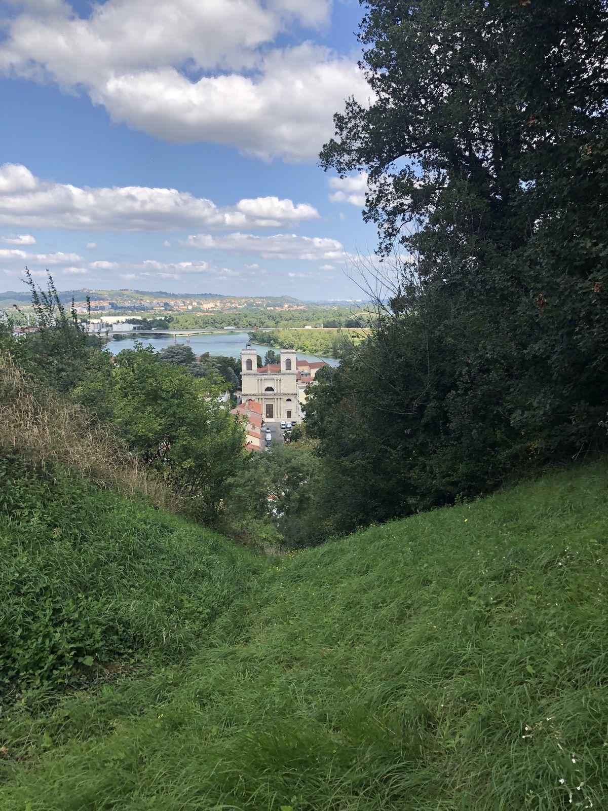 Une belle vue sur le Rhône