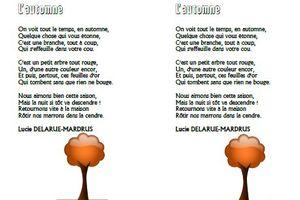L'automne Lucie Delarue-Maldrus CE1-CE2-CM1-CM2