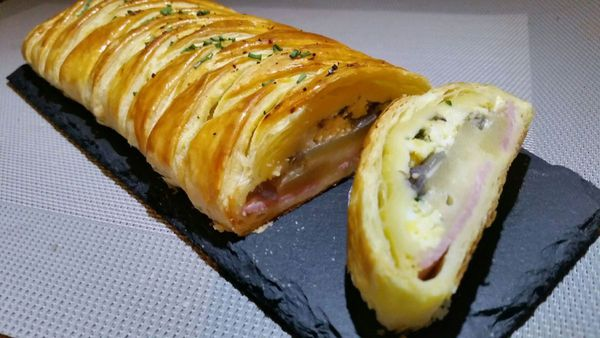 tresse jambon fromage oeuf p-d-terre