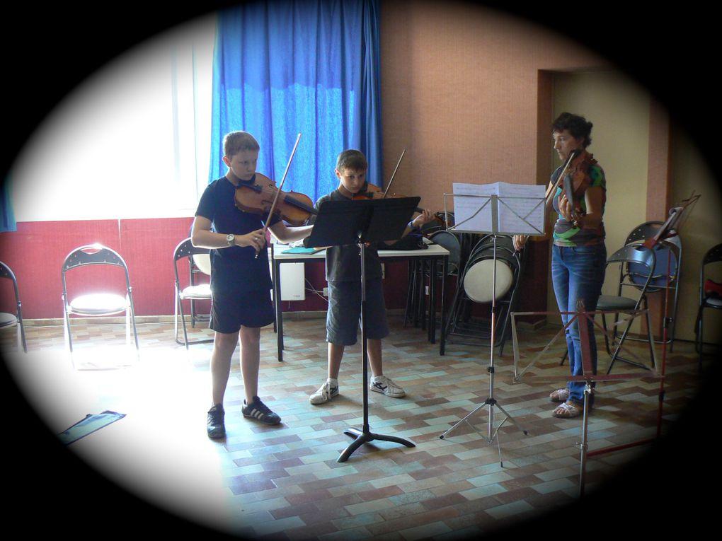 Stage de musique d'ensemble et orchestre Riouclar 2-10 juillet 2011