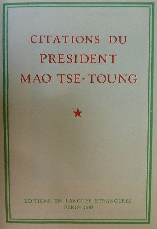 L'auteur de Culture-Histoire croyait avoir vendu ce livre, à une certaine époque de sa vie, ce ne fut pas le cas. Ce livre rouge lui avait été donné vers 1970 par une étudiante sur la filière du domaine social. Retrouvant ce livre, on peut se rappeler que le grand timonier considérait les Américains comme des tigres de papier.