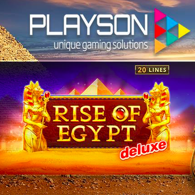 Playson lance une version Deluxe de sa populaire machine à sous en ligne Rise of Egypt