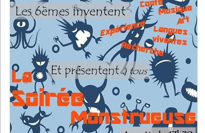 Soirée Monstre / mardi 12 décembre 2017 à partir de 17h30 au Collège Lévi Strauss Lille Bois Blancs