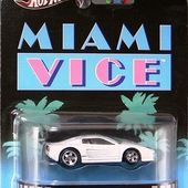 FERRARI 512M MIAMI VICE RETRO ENTERTAINMENT HOT WHEELS 1/64 F512M 2 FLICS A MIAMI DON JOHNSON PHILIPP MICHAEL - CATEGORIE CINEMA - car-collector.net