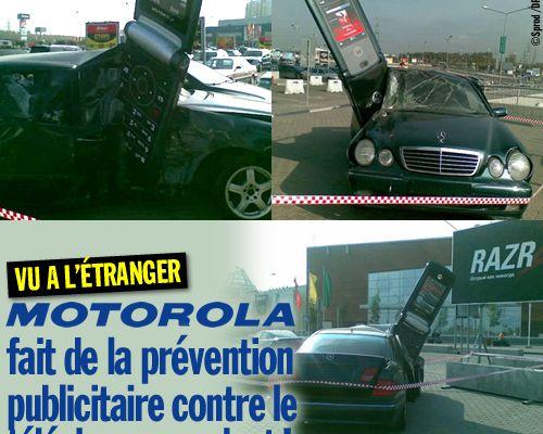 Motorola fait de la prévention publicitaire contre le téléphone au volant !
