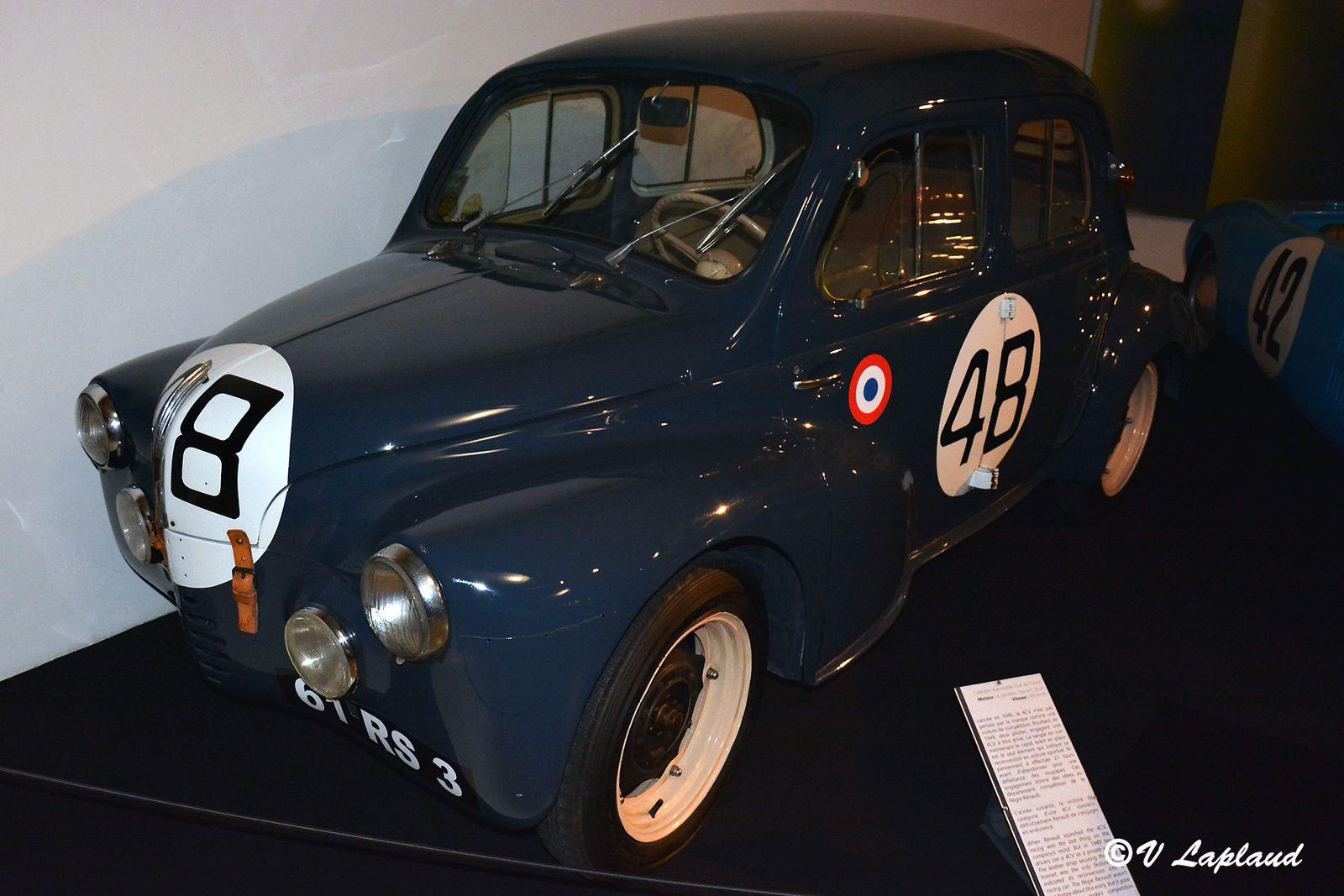 Renault 4CV Le Mans 1950, Jacques Lecat et Louis Pons, Musee du Mans 2020.