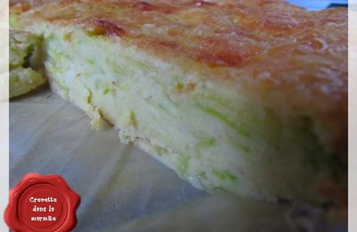 Quiche invisible Courgettes & Curry