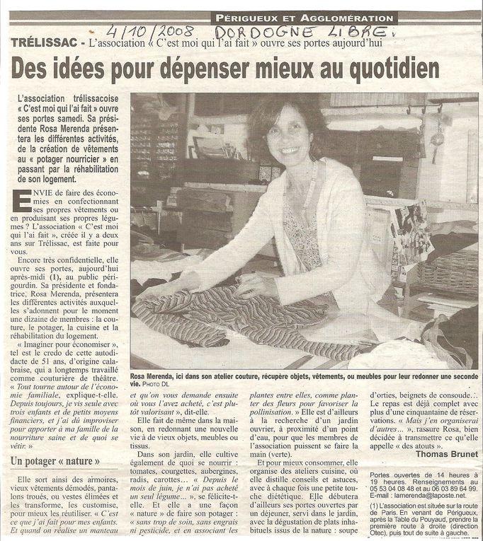 Divers Articles de Presse,Rosa et Association.