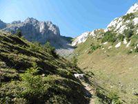 Les chalets d'alpage de la Montagne. Le couloir de la Grande Pierre.