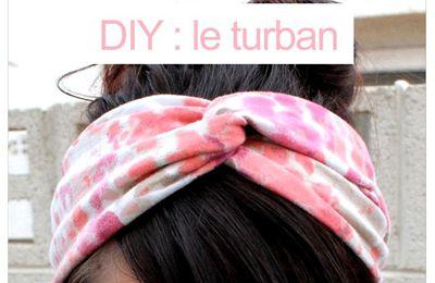 Diy couture : fabriquer un turban à cheveux ou un bandeau à cheveux , en suivant son pas à pas en images gratuits !