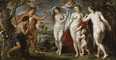 """La Grecia homérica; """"El juicio de Paris"""", Peter Paul Rubens, """"El juicio de Paris"""", Enrique Simonet,1904"""