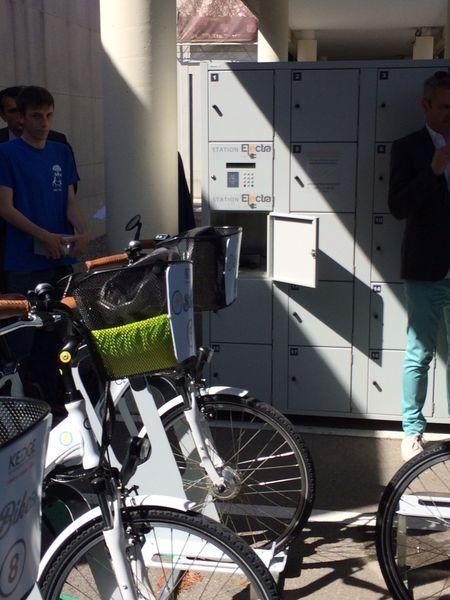 Inauguration d'une station de 10 vélos à assistance électrique destinés aux salariés et étudiants…