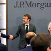 """Merci de votre confiance"" : Emmanuel Macron inaugure le siège parisien de la banque JP Morgan"