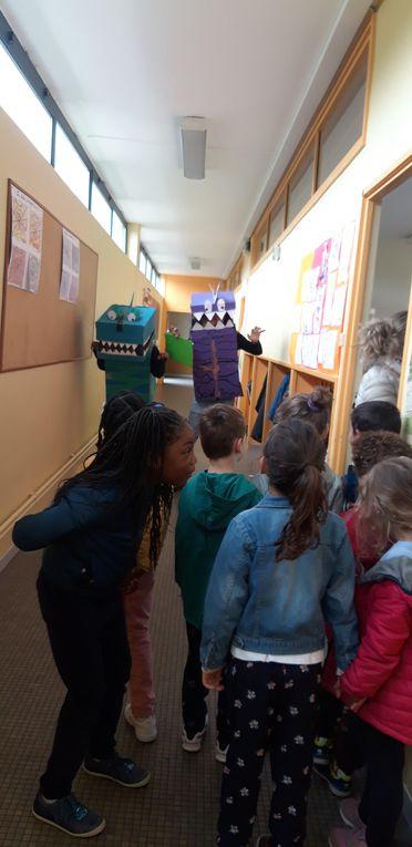 Venue des intervenants du Musée en Herbe. Visite de l'école Mondor par les GS.