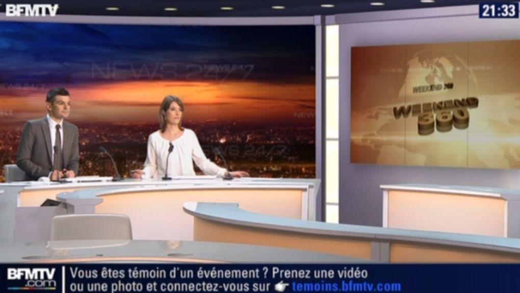 2013 11 09 - 21H15 - LUCIE NUTTIN - BFM TV-  WEEK-END 360