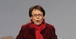 Martine Billard, Secrétaire nationale à l'écologie, à Strasbourg le 10 mars