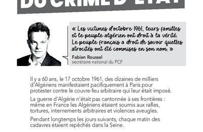 17 octobre 1961 : reconnaissance du crime d'Etat