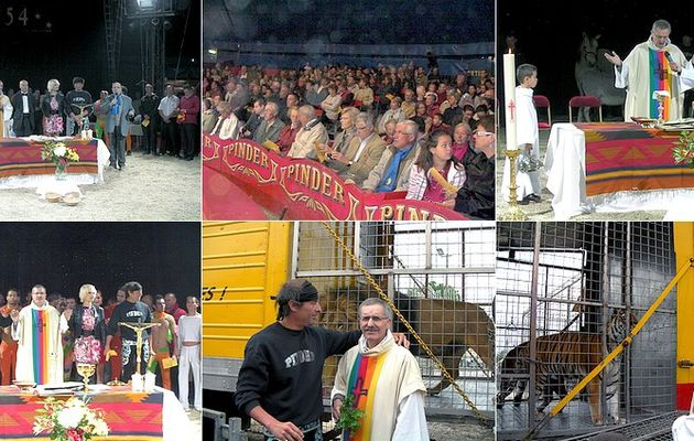 Le diocèse de Clermont Ferrand et les artistes du cirque Pinder ont fêté ensemble l'Ascension ce 2 juin 2011
