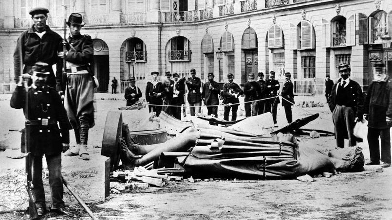 la destruction de la colonne Vendôme pendant la Commune de Paris