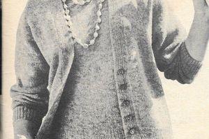 Ensemble pull + gilet tricoté taille 40 - 42
