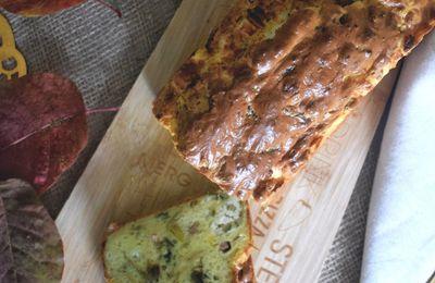 Cake au mascarpone poireaux chèvre lardons