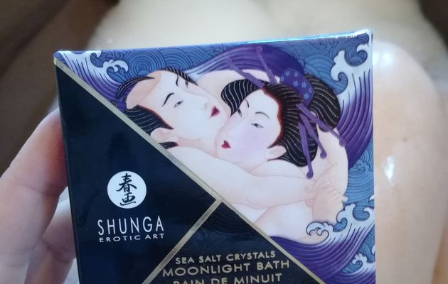 Test du sel de bain moussant Shunga