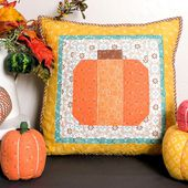 How to Make a Cute Patchwork Pumpkin Pillow | Polka Dot Chair