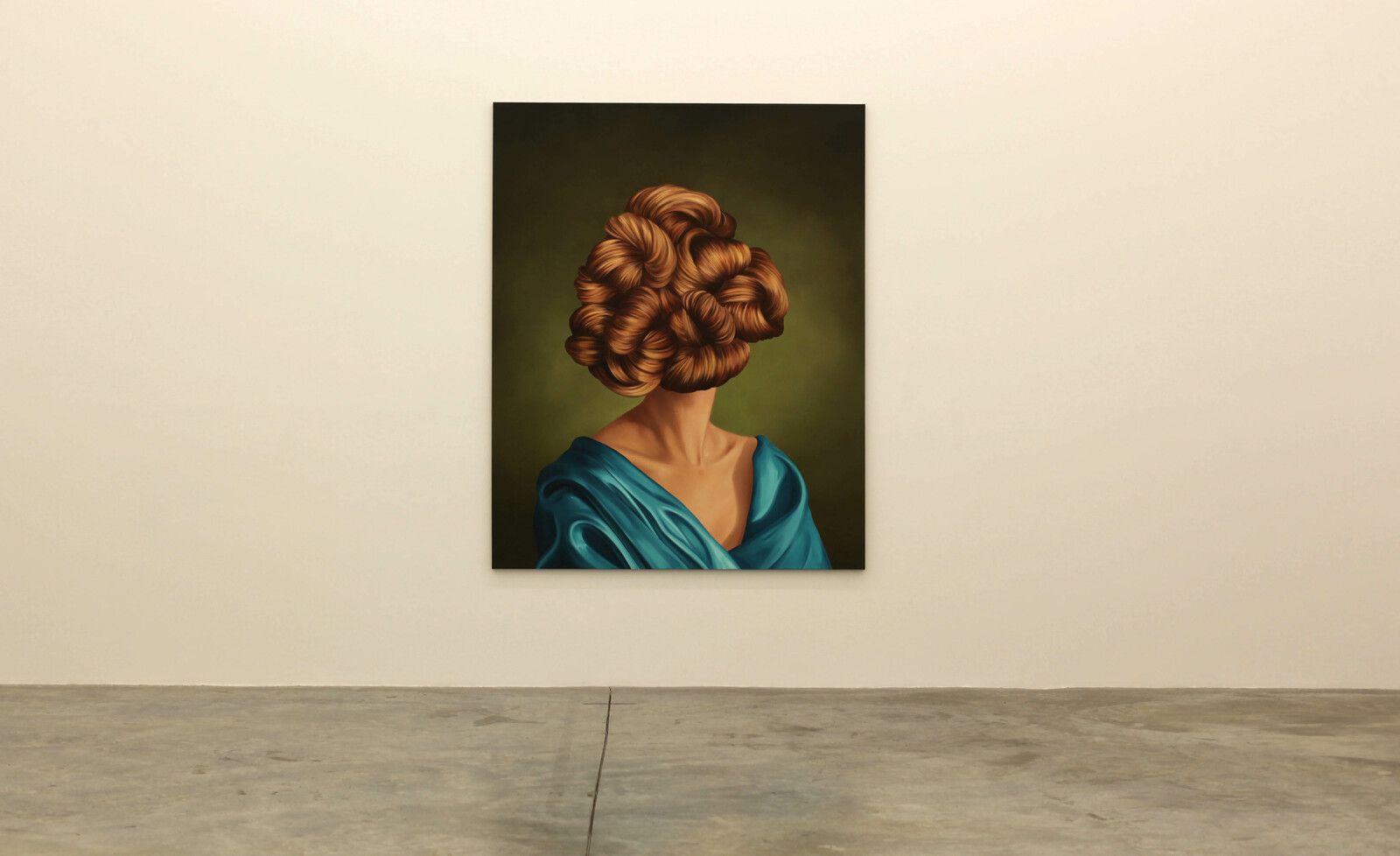 """""""Ginger Locks"""", 2021 de Ewa JUSZKIEWICZ - Courtesy de l'artiste et de la Galerie Almine Rech © Photo Éric Simon"""